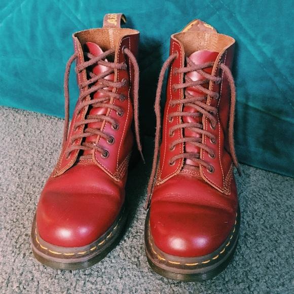 große Auswahl Sonderkauf billiger Verkauf Oxblood Quilon Vintage 1460 Dr. Martens Lace Ups